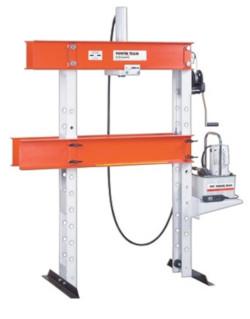 Workshop Press 25 Ton H Frame Open Throat Press For Sale. Workshop Press, H Frame Press Open Throat.