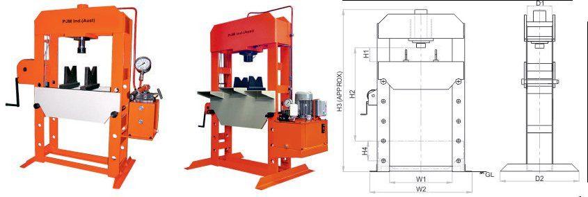 PJM Industrial Workshop Presses. Hydraulic Workshop Press for Sale Australia