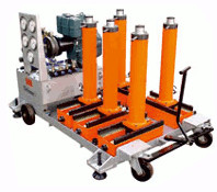 Gang Operated jacking system with traverse base ( Diesel I Power operated)