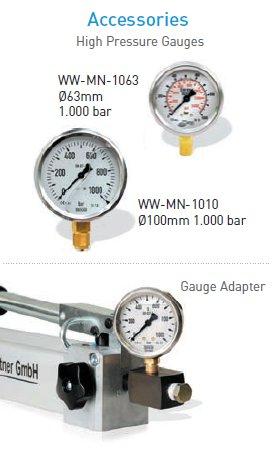 Werner Weitner single speed hydraulic hand Pumps accessories